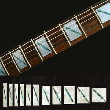 Split Blocks White Silver Fret Markers Inlay Stickers Decals
