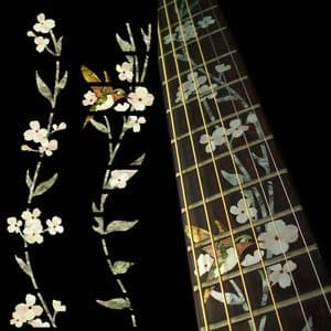 Tree Of Life with Hummingbird Fret Markers Inlay Sticker