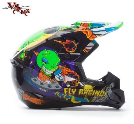 Fly Kinetic Youth Invasion Helmet Green