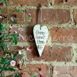 'Home Sweet Home' Wooden Hanging Heart   Wooden Shaker Hearts