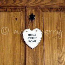 'HOME SWEET HOME' Wooden Heart | Wooden Heart Plaques | Heart Sign