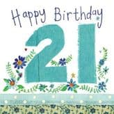 21 Happy Birthday Card - Alex Clark S71