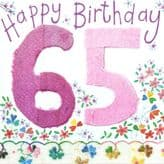 65 Happy Birthday Card - Alex Clark S138