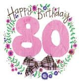 80 Happy Birthday Card - Alex Clark S77