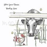 A Cow & Chicken Personalised Card PAM28