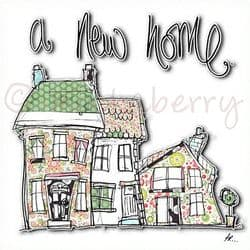 A New Home Card | New Home Greeting Cards | In Your New Home Cards