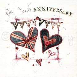 Anniversary Card   Vintage Greetings Cards   Anniversary Cards