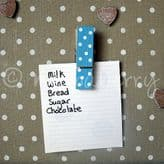 Blue Polka Dot Magnetic Pegs