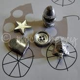 Christening Pewter Tokens Set