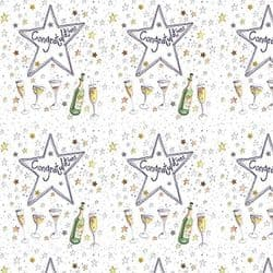 Congratulations Gift Wrap with Tags - Alex Clark   mochaberry