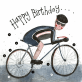 Cyclist Happy Birthday Card - Alex Clark S273