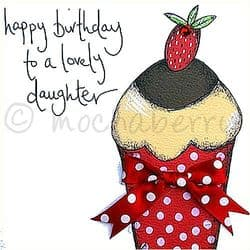 Daughter Birthday Card | Daughter Happy Birthday Cards | mochaberry