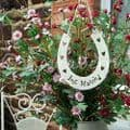 East of India Just Married Wooden Horseshoe - 3551