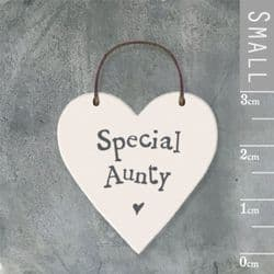 East of India Little Wooden Heart - Special Aunty - 2875 | mochaberry