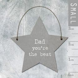 East of India Little Wooden Star - Dad You're The Best - 2933 | mochaberry