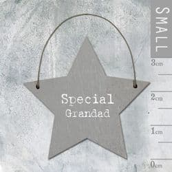 East of India Little Wooden Star - Special Grandad - 2932 | mochaberry