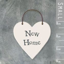 East of India Little Wooden Heart - New Home - 2862 | mochaberry
