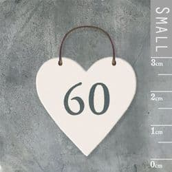 East of India Little Wooden Heart - Number 60 - 2901   mochaberry