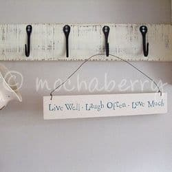 East of India 'Live Well Laugh Often Love Much' Sign | mochaberry