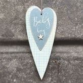 East of India Long Blue Heart - Baby Boy - 0519