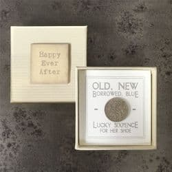 East of India Lucky Sixpence for Bride - 1569 | mochaberry