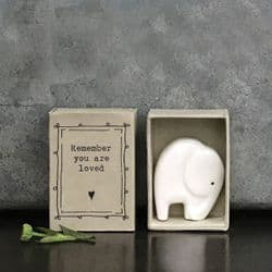 East of India Matchbox Elephant Remember You Are Loved - 0022   mochaberry