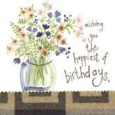 Jug Of Flowers Birthday Card - Alex Clark S169