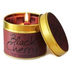 Lily-Flame Black Cherry Scented Candle Tin   mochaberry