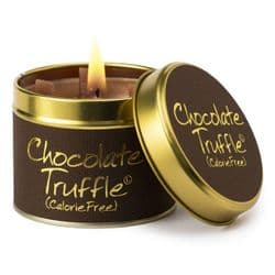 Lily-Flame Chocolate Truffle Scented Candle Tin | mochaberry