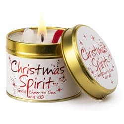 Lily-Flame Christmas Spirit Candle Tin | Scented Candles | mochaberry