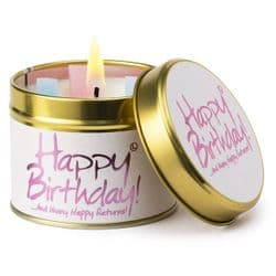 Lily-Flame Happy Birthday Scented Candle Tin   mochaberry