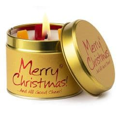 Lily-Flame Merry Christmas Candle Tin | Scented Candles | mochaberry