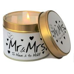 Lily-Flame Mr & Mrs Scented Candle Tin | mochaberry