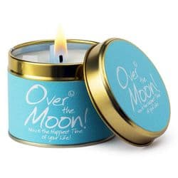 Lily-Flame Over the Moon Scented Candle Tin | mochaberry