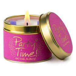 Lily-Flame Party Time Scented Candle Tin | mochaberry