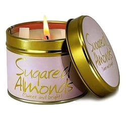 Lily-Flame Sugared Almonds Scented Candle Tin | mochaberry