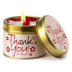 Lily-Flame Thank You Scented Candle Tin | mochaberry