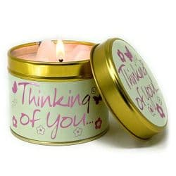 Lily-Flame Thinking Of You Scented Candle Tin | mochaberry