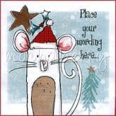 Mouse Personalised Christmas Card PCS26