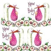 New Baby Girl Gift Wrap & Tags - Alex Clark