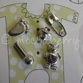 New Baby Pewter Tokens Set