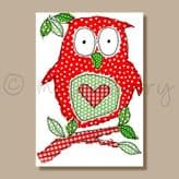 Owl - greeting card