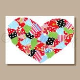 Patchwork Heart - greeting card