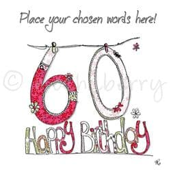 Personalised 60th Birthday Cards | 60th Birthday Cards | 60th Card