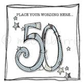 Personalised Age 50 Birthday Card PCFH14