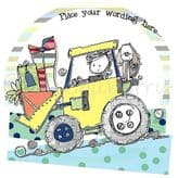 Personalised Boy Driving A Tractor Card PCK02