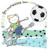 Personalised Boy Playing Football Card PCK03