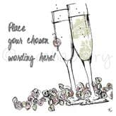 Personalised Champagne Flutes Card PC15