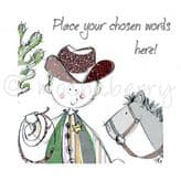 Personalised Cowboy And Horse Card PC82