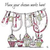 Personalised Cupcakes Happy Birthday Card PC16